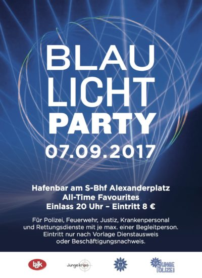 Blaulicht Party Hafenbar Berlin 07.09.2017